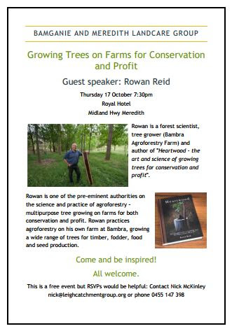 agro forestry talk meredith